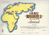 IARU Region 1 SSB Award