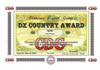 DX COUNTRY AWARD